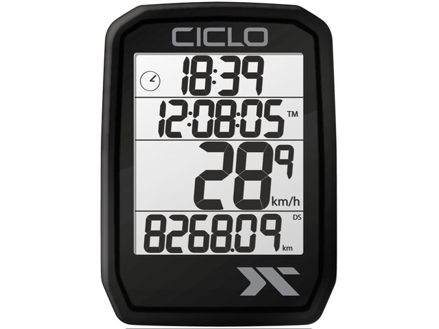 Ciclosport Protos 105 Cykelcomputer, sort
